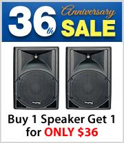 Buy one Kingdom VersaPro Loudspeaker get a 2nd  (same size_ Speaker for just $36 more