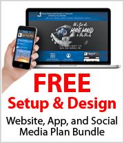 Free Set-up on 20 Page Professional Website, Mobile App & Social Media Plan Bundle